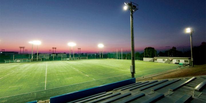 照明(投光器)納入事例 学校法人 浪商学園 大阪体育大学熊取学舎 ラグビーグラウンド